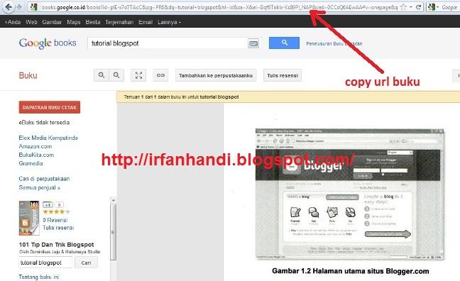 buku google book yang akan di download copy url buku lihat di address