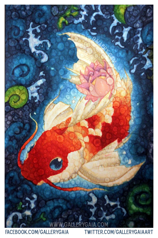 Illustration: Colourful Koi | Gallery Gaia - Creative Corner