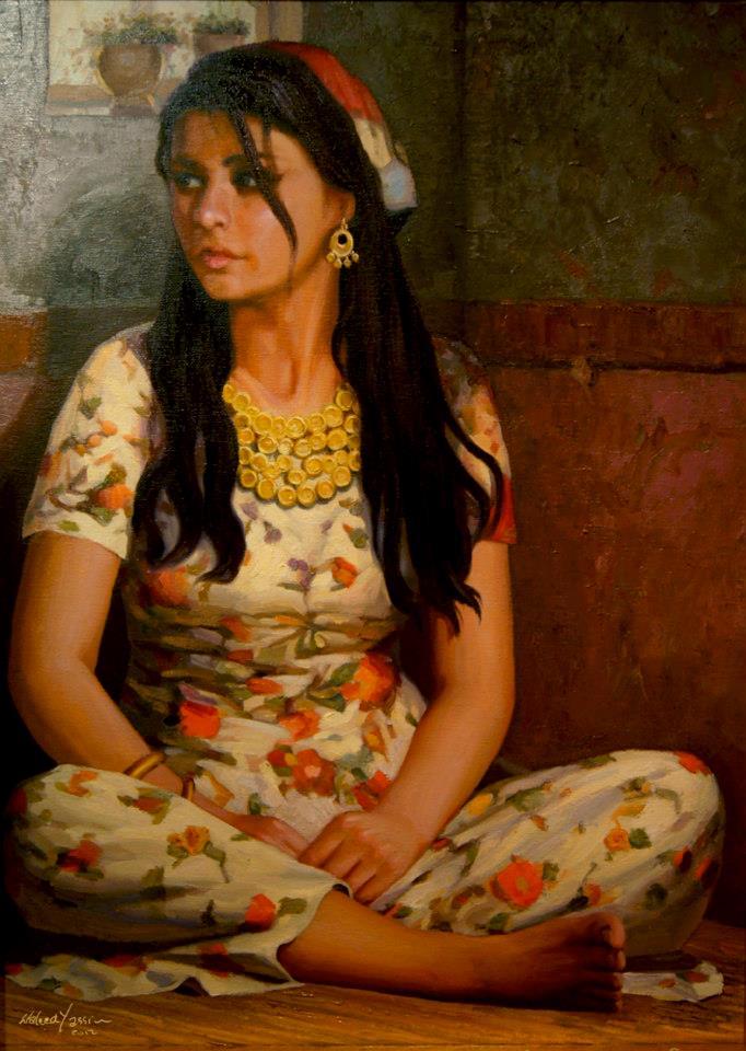 Gypsy Woman Painting Hindart3: Waleed Yassi...