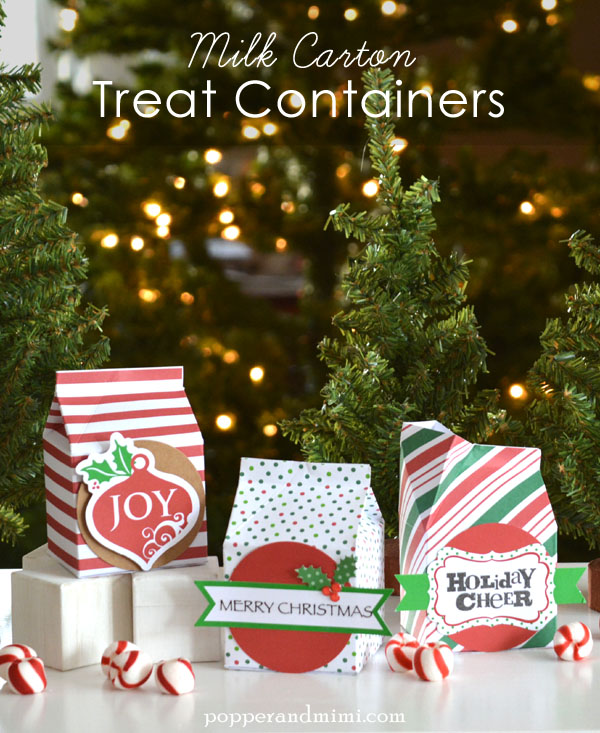 Milk carton Christmas treat containers