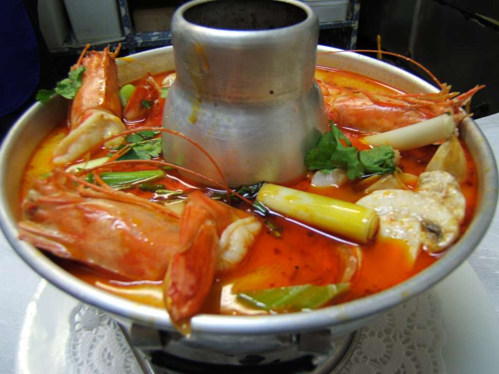 Tom Yam seafood thailand is a native food that taste so delicious