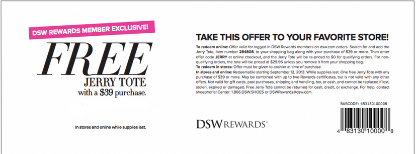 Dsw Printable Coupons July 2014