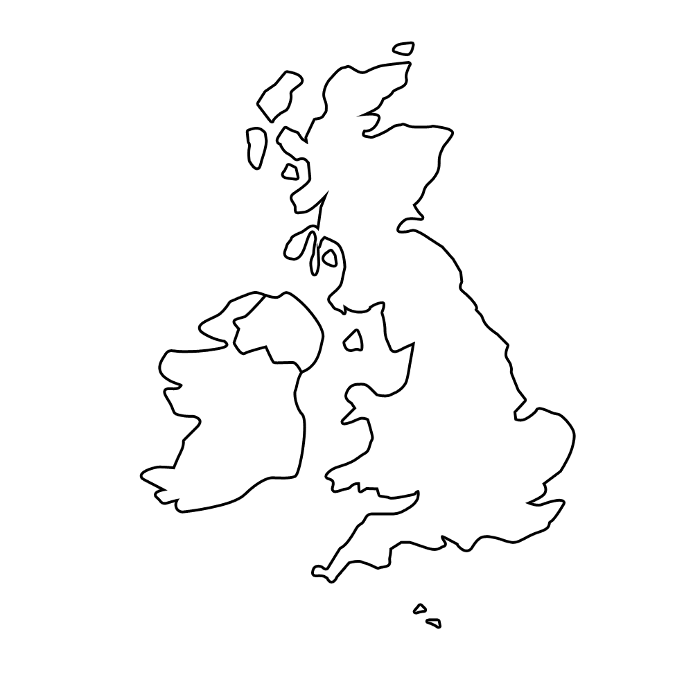 Massif image inside printable map of uk and ireland
