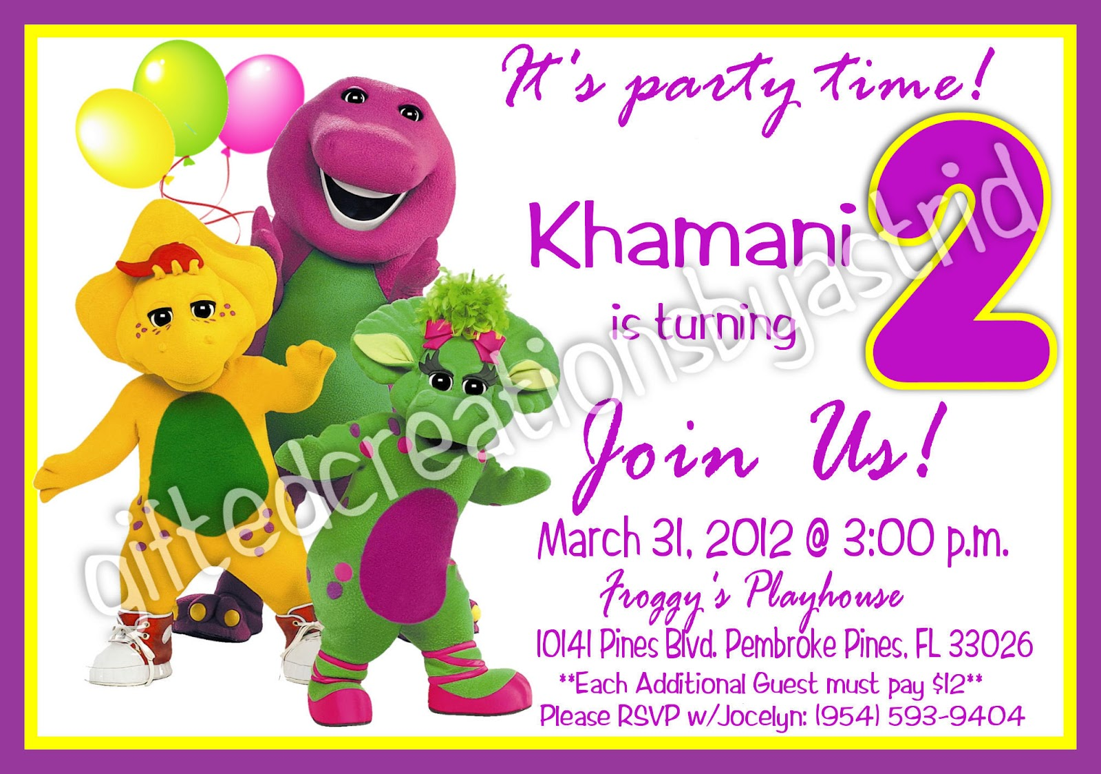 40th birthday ideas barney birthday invitation templates file name barneyinvitation2waterg resolution 1600x1600 image monicamarmolfo Images