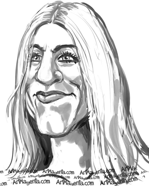 Jennifer Aniston is a caricature by Artmagenta