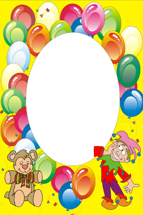 Para A Festa Infantil Molduras De Palhaco Para Arte Digital