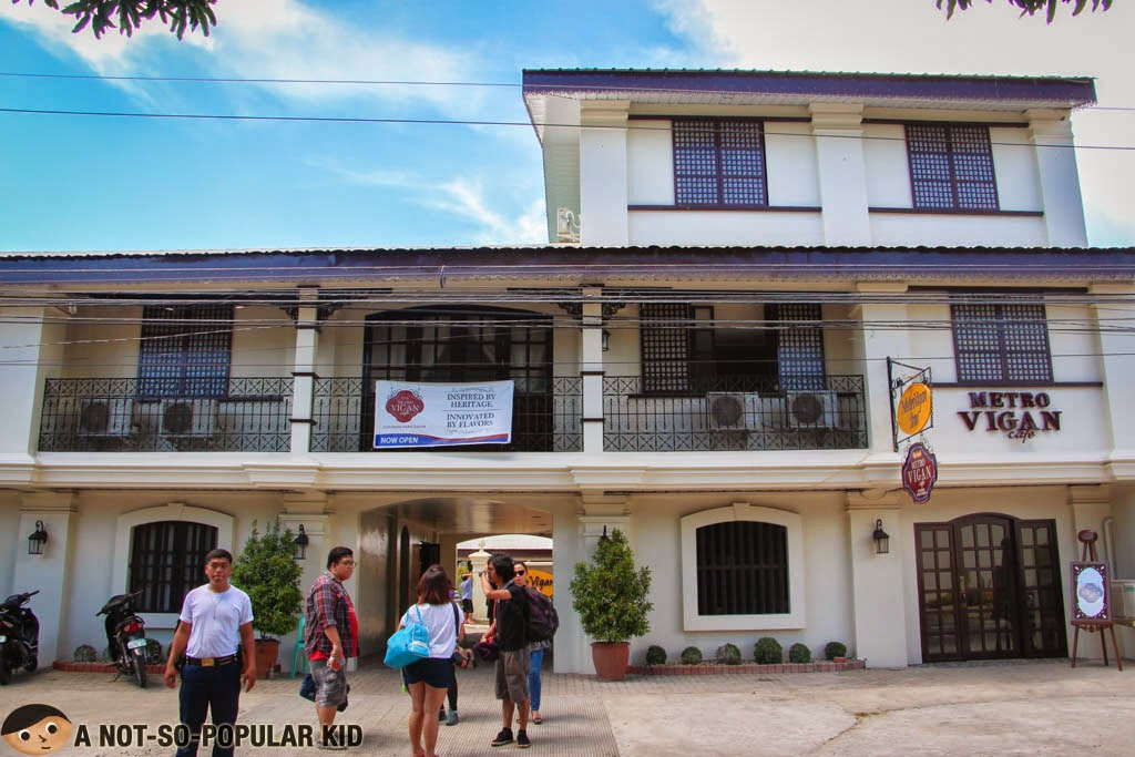The Facade of the new Budget Hotel  called Metro Vigan Inn
