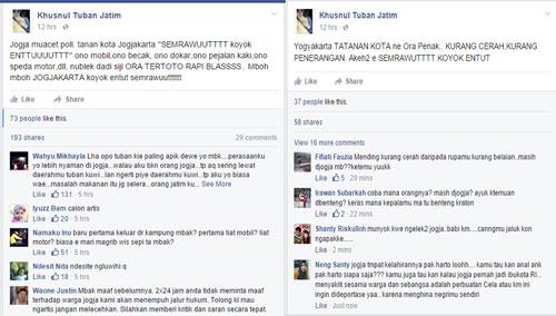 Hina Jogja di Facebook, Khusnul Tuban Dikecam Netizen