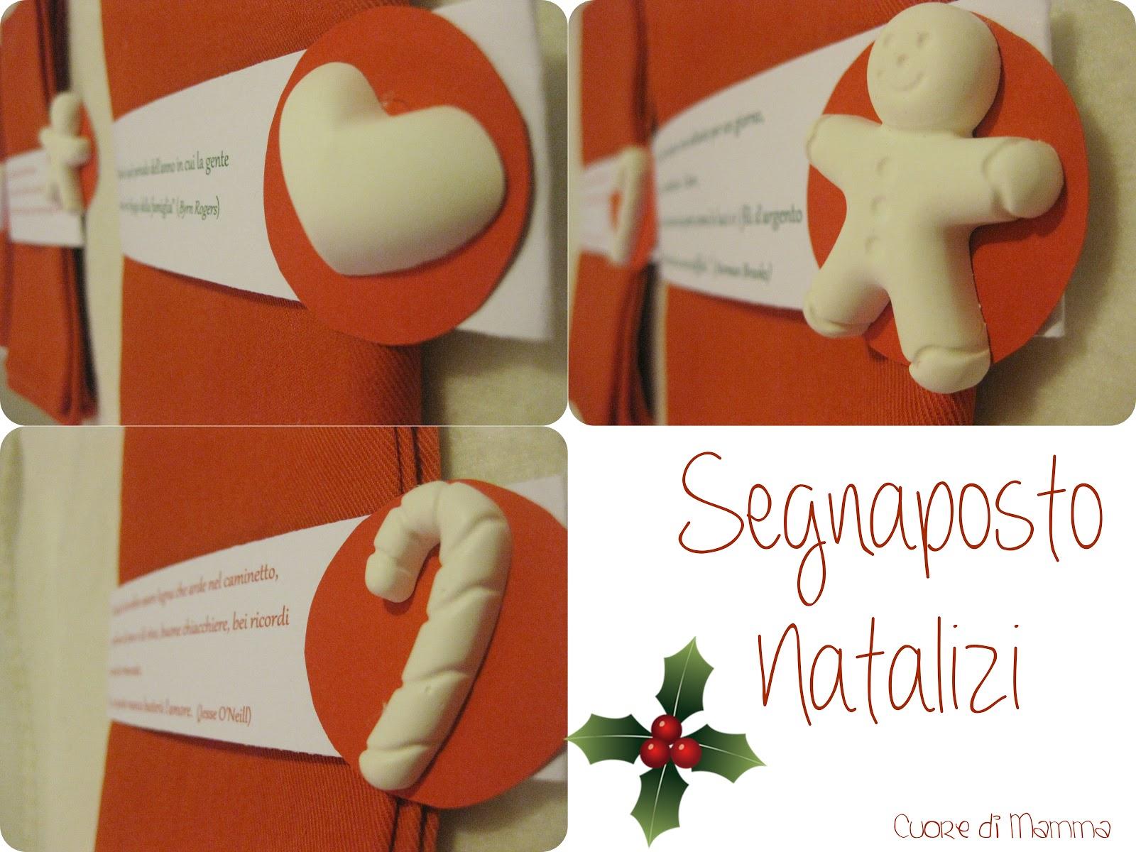 Segnaposto Matrimonio Natalizio : Cuore di mamma segnaposto natalizi