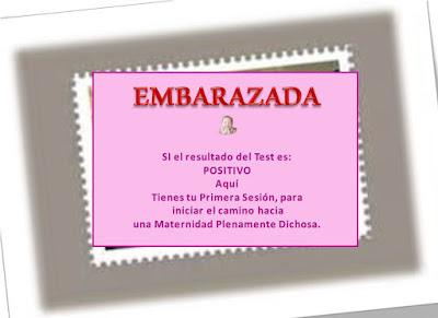 sesión EMBARAZADA Resultado del Test POSITIVO