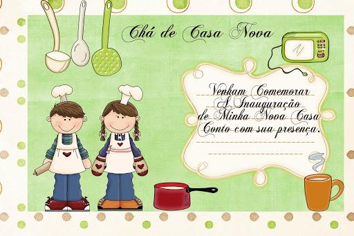 Idéias De Convite Para Chá De Casa Nova Deby Dicas