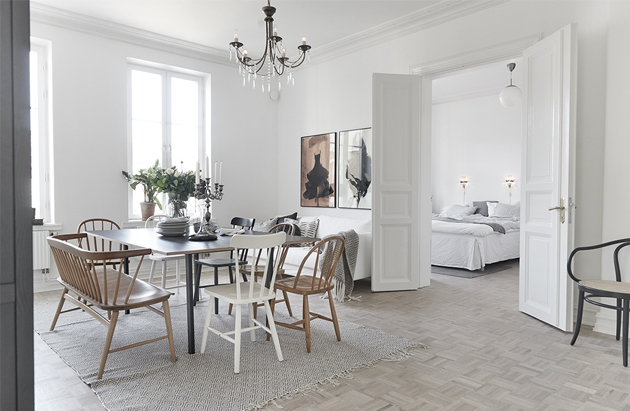 design attractor: Calm and Cozy Swedish Apartment