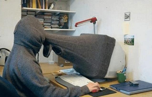 smešna slika: rad za računar