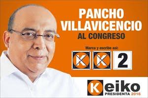 Pancho Villavicencio, candidato N° 2 por el Callao de FUERZA POPULAR