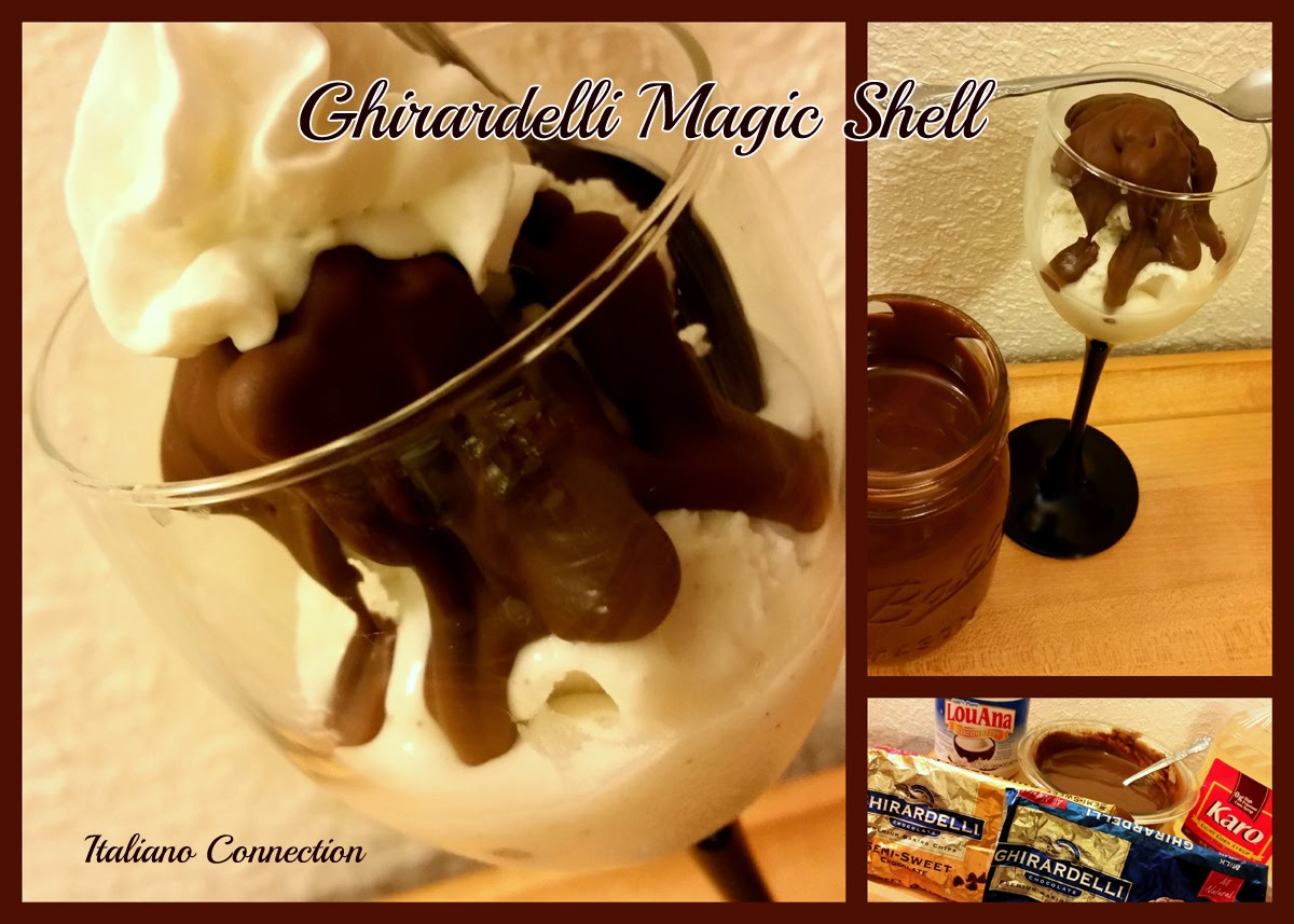 Ghirardelli Magic Shell Ice Cream Topping Italian-American Style