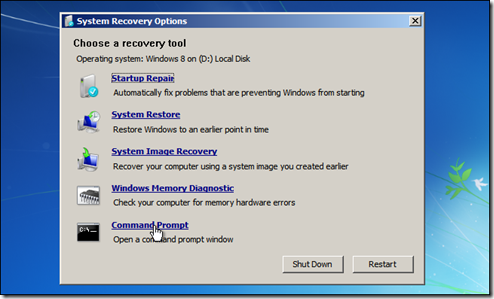 system recovery system, backup file
