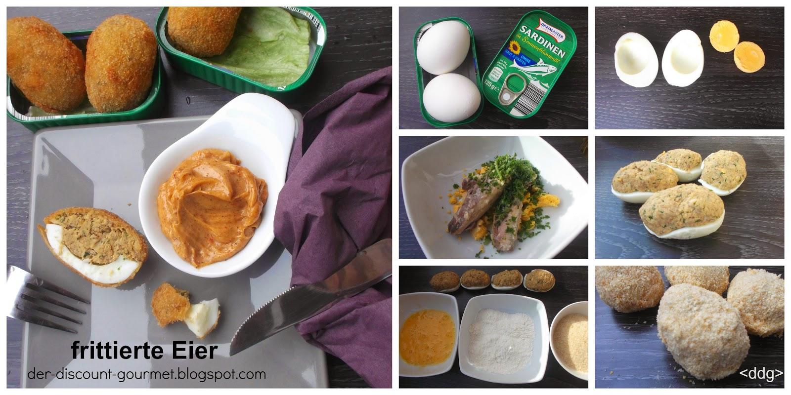 Der discount gourmet frittierte eier mit cremigem chili dip - Eier hart kochen ...