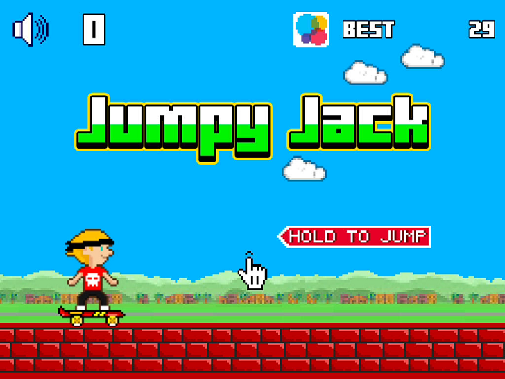 Jumpy Jack iTunes Free App By redBit games