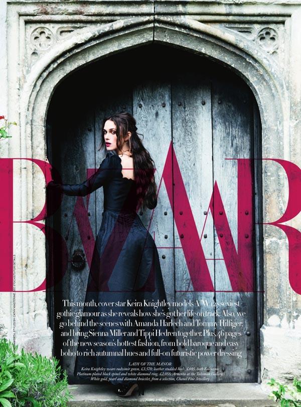 Nr 9 Keira Knightley By Ellen Von Unwerth For Harpers Bazaar Uk