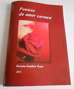"""Mi primer poemario de Amor """"POESIAS DE AMOR CARMESI"""""""