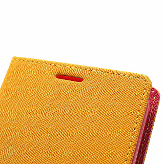 Mercury Goospery Fancy Diary Wallet Leather Case for Samsung Galaxy Mega 6.3 I9200 I9208 - Yellow