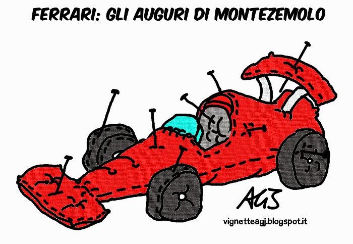 Ferrari, F1, Montezemolo, Sport, Umorismo , vignetta