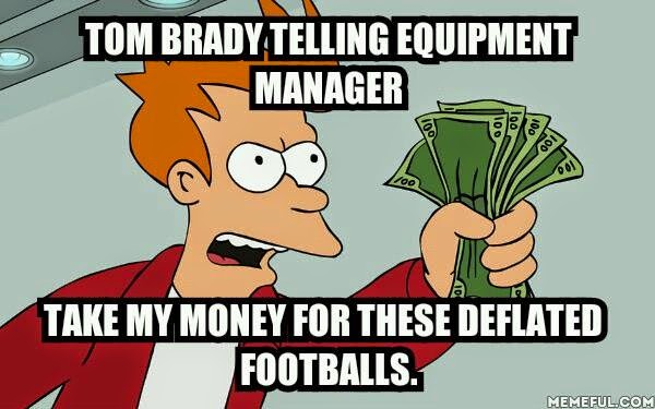 tom brady telling equipment manager take my money for these deflated footballs