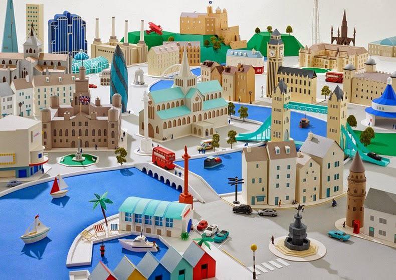 Encantadoras ciudades de papel de Hattie Newman