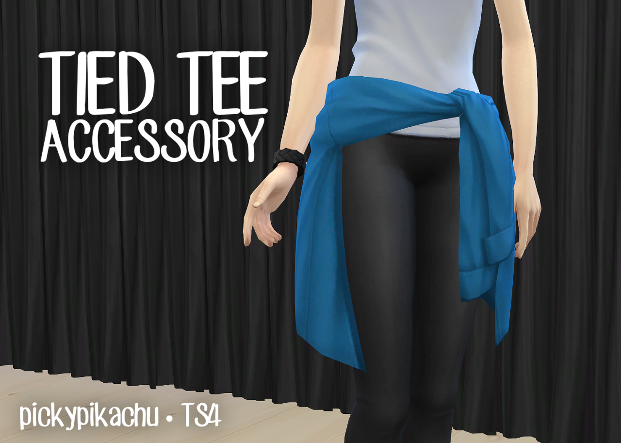 My Sims 4 Blog: Tied Tee Accessory for Teen Elder Females