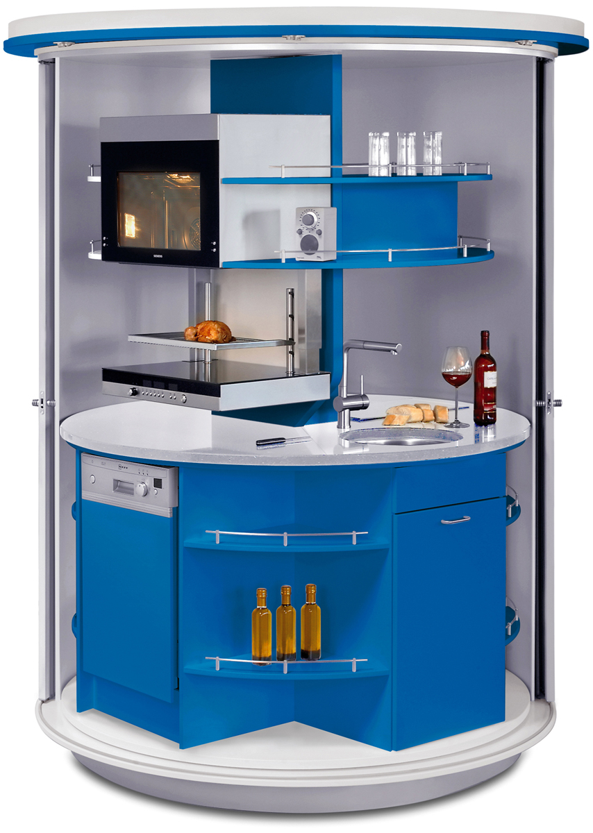 Kitchen Westbourne Grove Revolving Circle Compact Kitchen Home Design