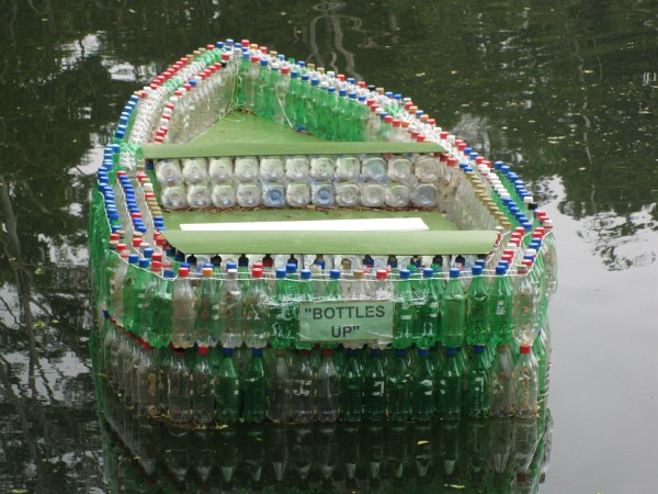 The boat made of thousands of plastic bottles used successfully ply ...