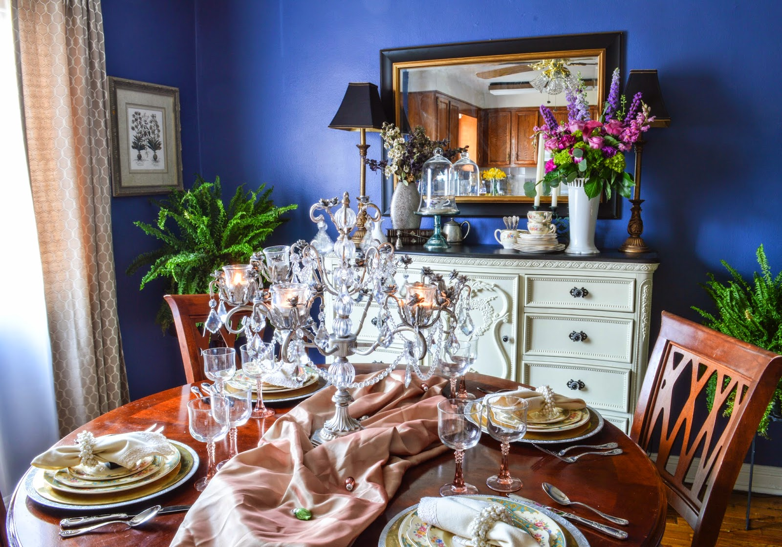 Easter Dining Room, Vintage and Elegant