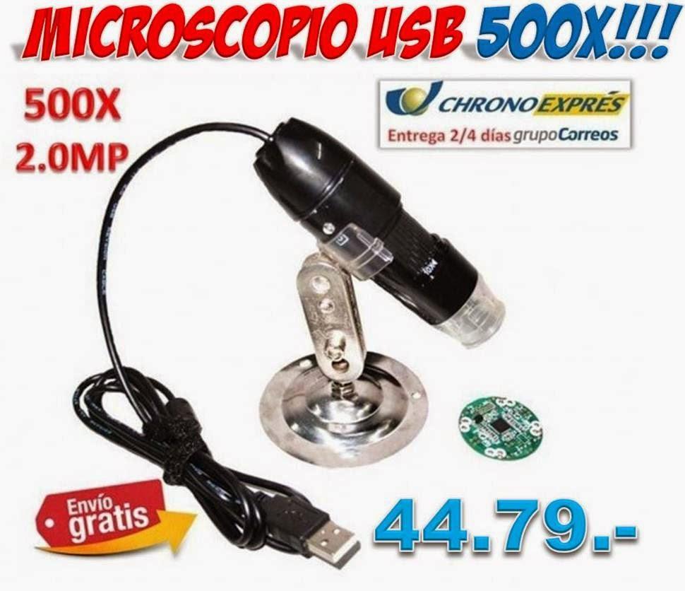 Microscopio digital USB camara video ordenador