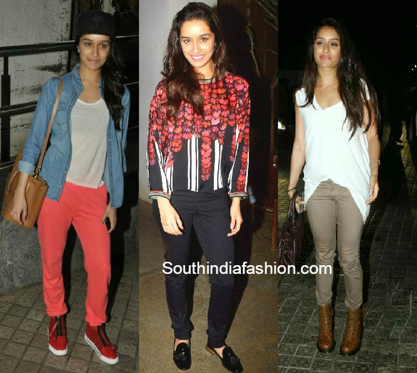 shraddha kapoor casual jeans outfits