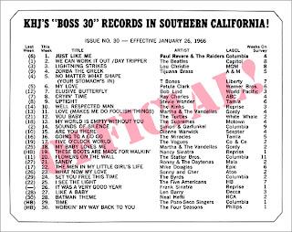 KHJ Boss 30 No. 30 - January 26, 1966