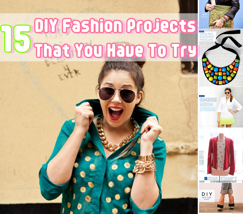 15 diy fashion projects that you have to try diy craft