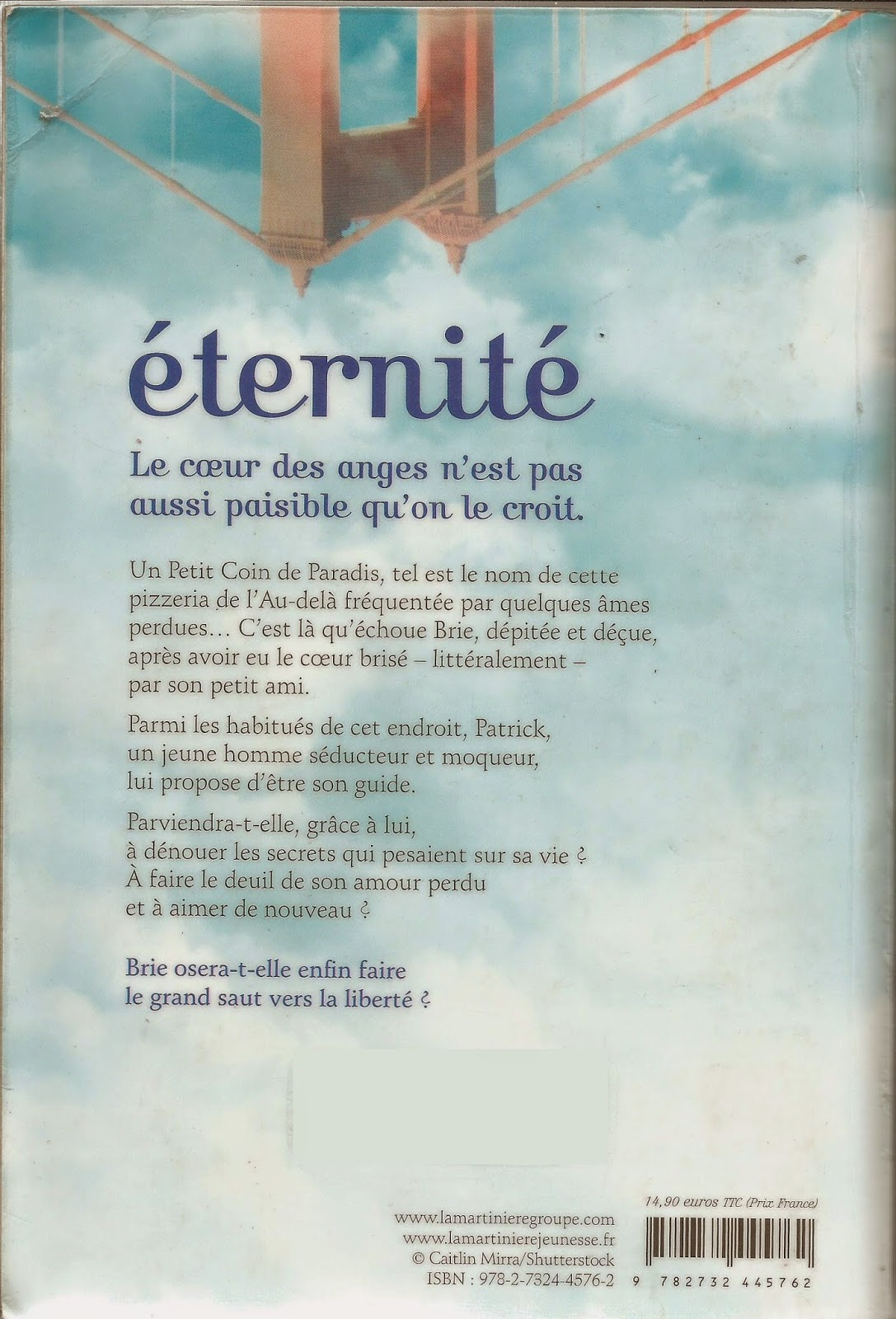 Eternité Jess Rothenberg back cover / quatrième de couverture