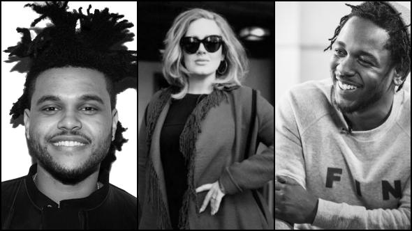 Adele, The Weeknd y Kendrick Lamar se presentarán en los Grammy.