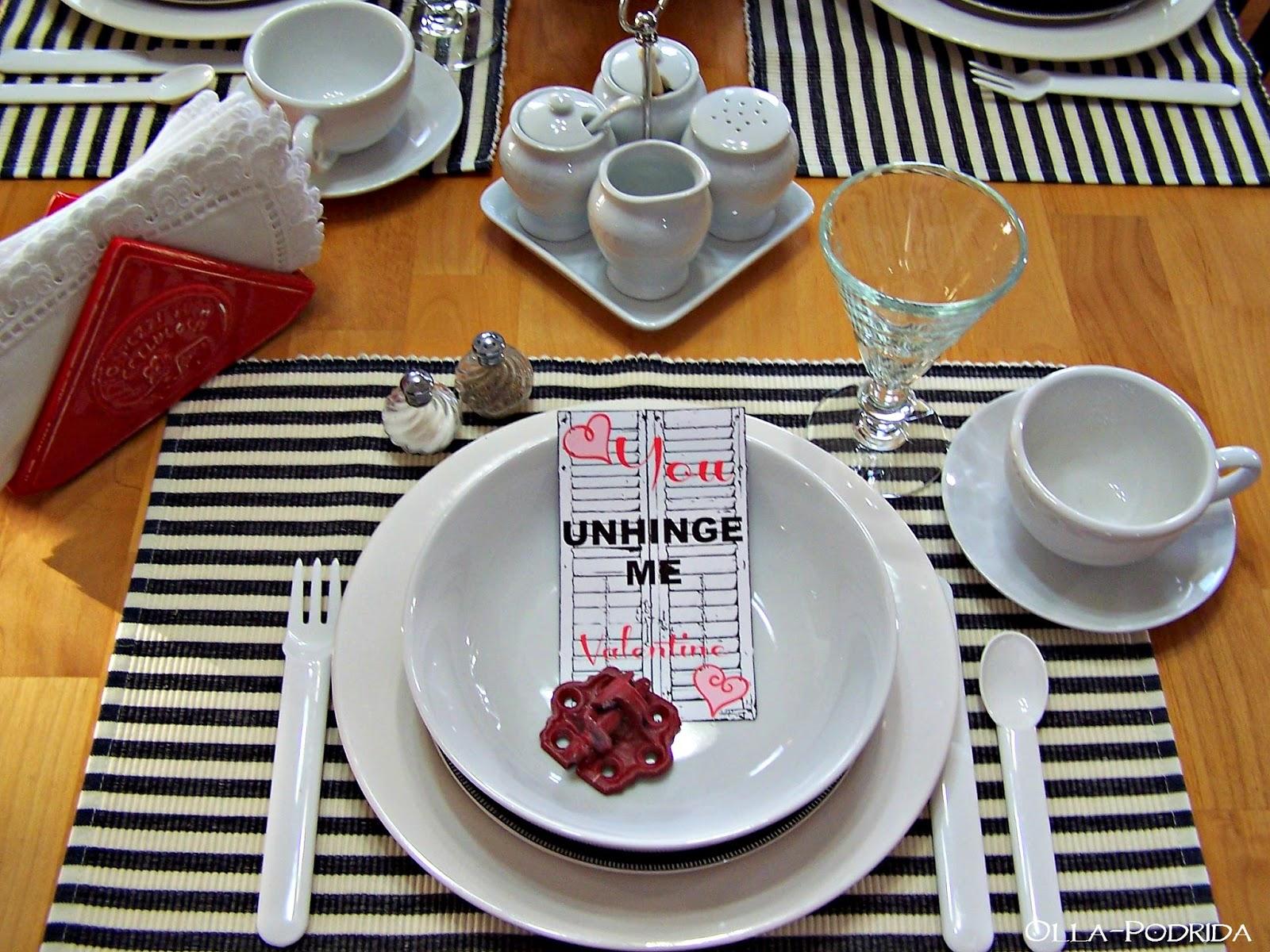 Olla-Podrida: Valentine Breakfast Tablesetting