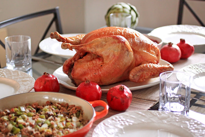 Primal Palate's Roasted Turkey with Pork Stuffing