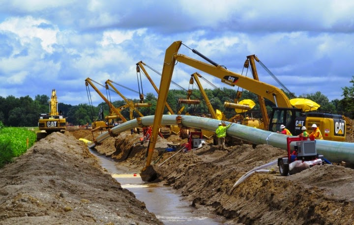A natural gas pipeline construction project in Michigan. (Credit: Consumers Energy/flickr) Click to Enlarge.
