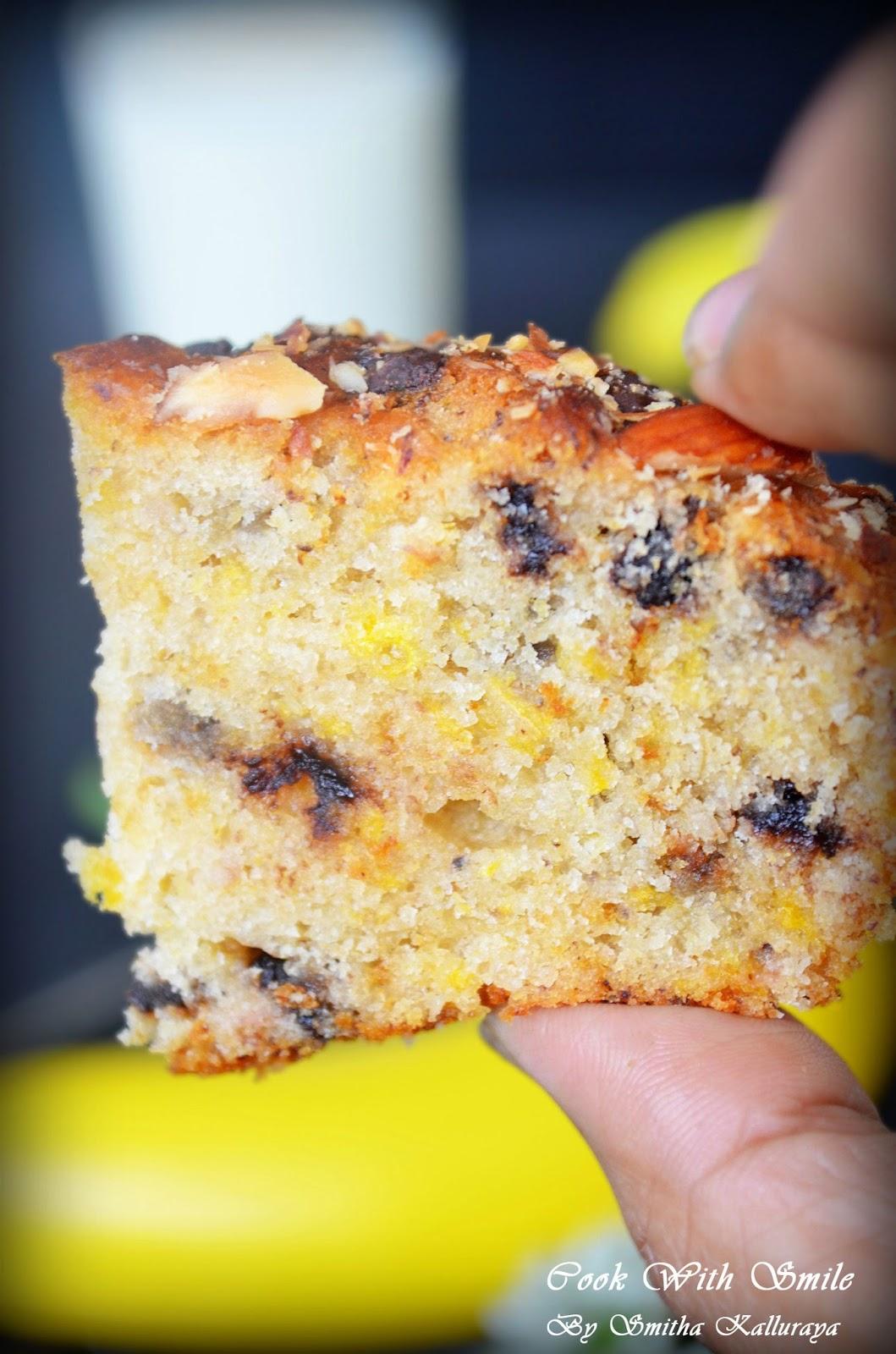 EGGLESS BANANA CAKE / EGGLESS BUTTERLESS BANANA BREAD ~ Cook With ...