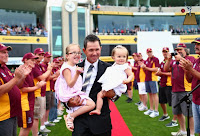 Ponting With His Daughters