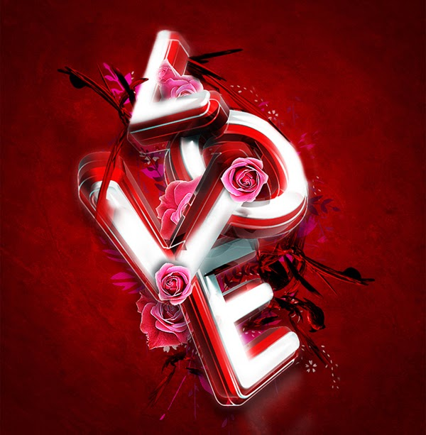 Tutorial Photoshop 3D Valentine Day Exclusive Tipografi.