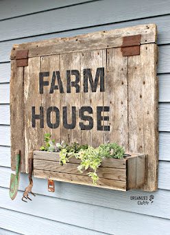 Barn Door Sign/Planter