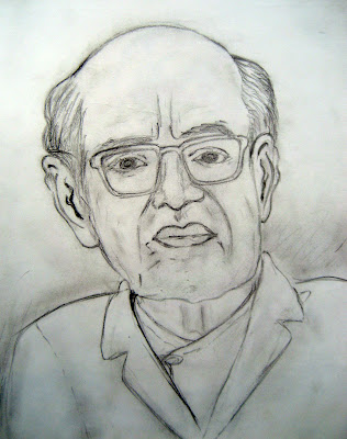 Portrait Sketch of Girija Prasad Koirala