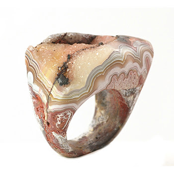Crazy Lace Agate Druzy Ring - Glenn Designs