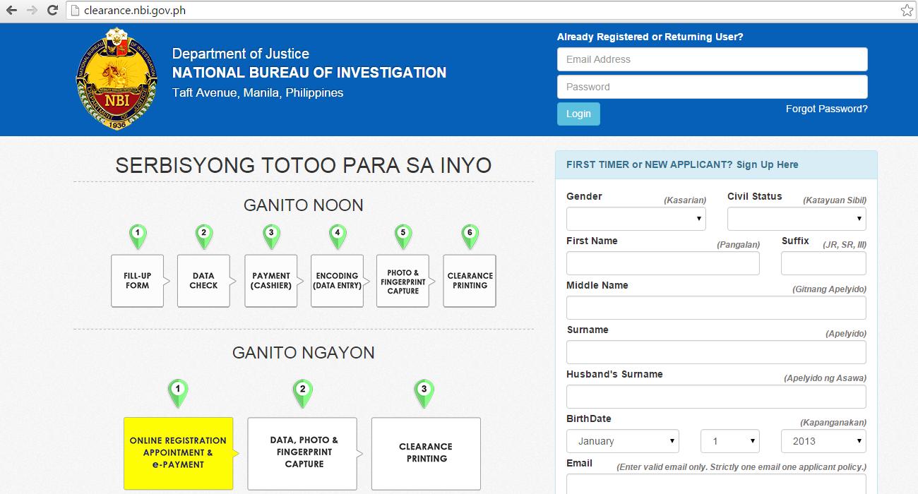 No more walk-in application as NBI Clearance goes online! - Geeky Juan via NBI