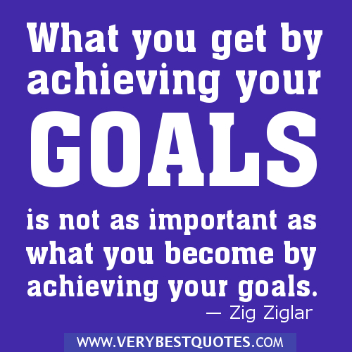 ACHIEVING GOALS Quotes Like Success