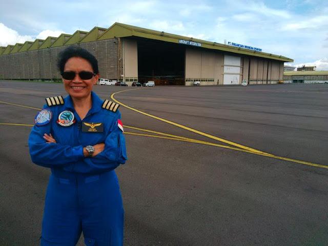 Esther Gayatri Calon Penerbang Perdana Pesawat N-219 Karya Akan Bangsa